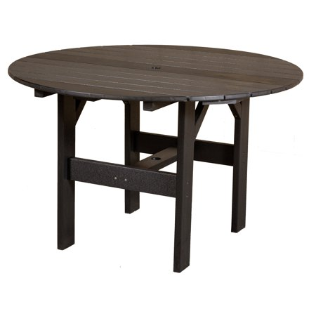Little Cottage Classic Recycled Plastic 46 In Round Patio Dining Table Wal