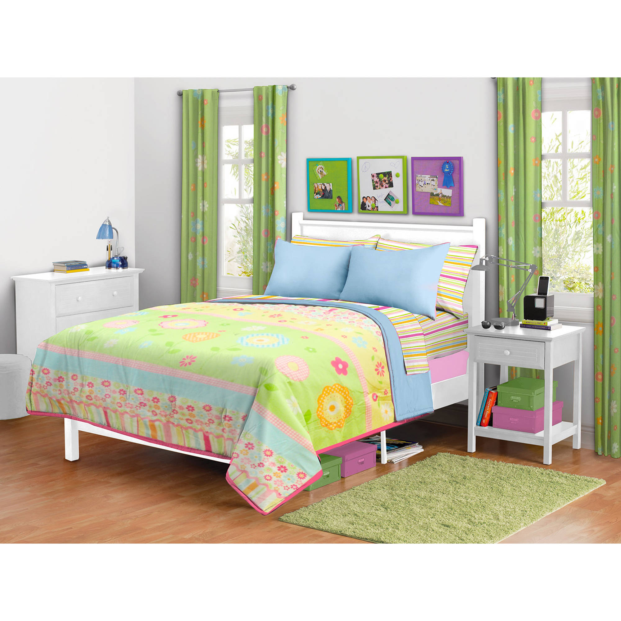 Mainstays Kids Daisy Floral Comforter, Twin/Full