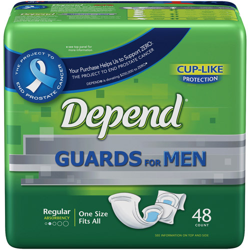 Depend Guards for Men, 48ct