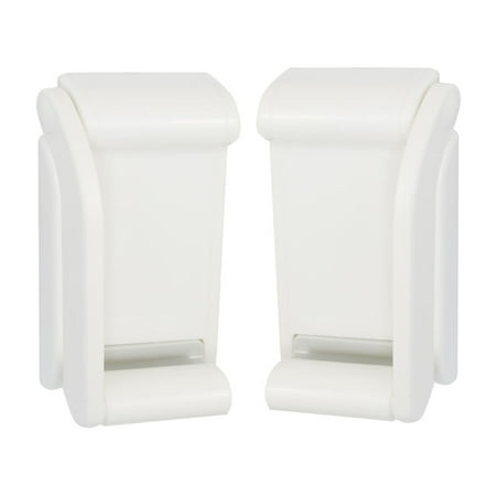 Uxcell Plastic White Adjustable Magnetic Toilet Paper Tissue - White Toilet Tissue Holder
