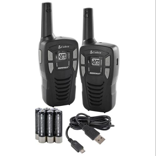 (2) COBRA 16 Mile 22 Ch FRS/GMRS Walkie Talkie 2-Way Radios w/USB Cable | CXT145 [Refurbished]
