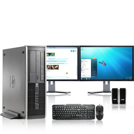 HP DC Desktop Computer 3.0 GHz Core 2 Duo Tower PC, 4GB RAM, 500 GB HDD, Windows 7, ATI , Dual 17