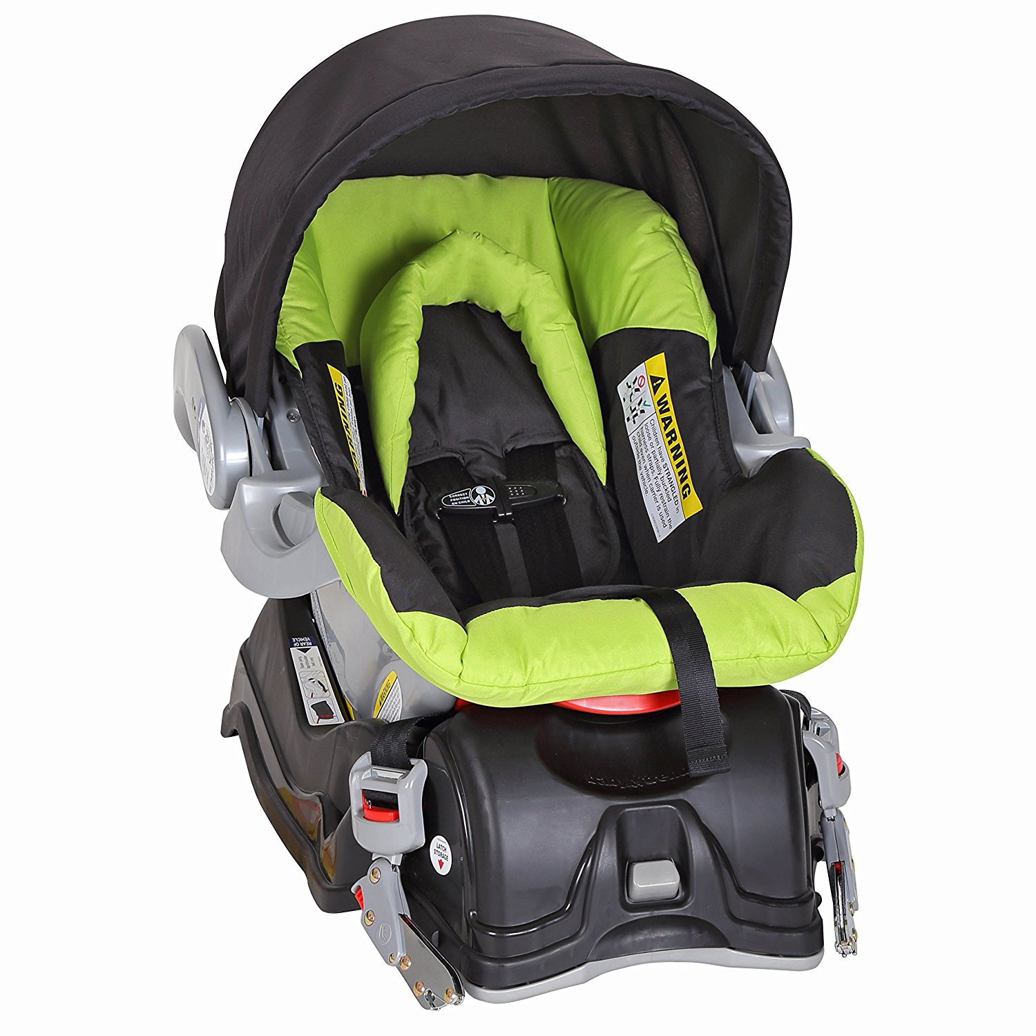 Baby Trend EZ Flex Loc Infant Car Seat With Car Base, Spring Green |