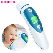 JUMPER FR401 Forehead and Ear Thermometer, Medical Digital Infrared Temporal Thermometer for Fever, Instant Accurate Reading for Baby Kids and Adults CE & FDA Approved