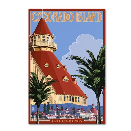 Trademark Fine Art 'Travel Poster 45' Canvas Art by Lantern - Canvas Art Poster
