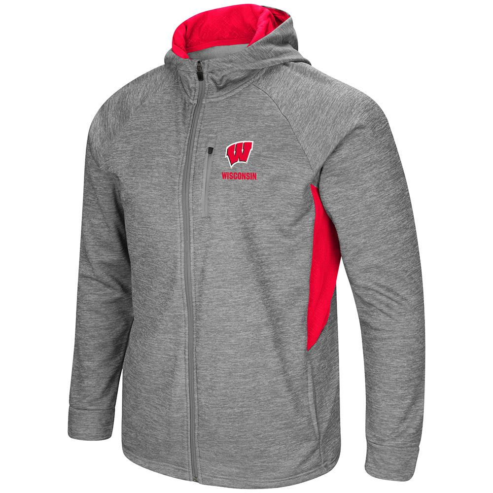 Mens Wisconsin Badgers Full Zip Jacket S by Colosseum