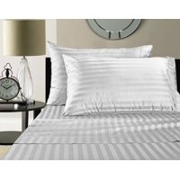 1800 Series Brused Microfiber Split King Sheet Set For Adjustable Beds - Stripe White by The Great American Store