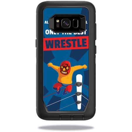 Skin For OtterBox Defender Samsung Galaxy S8 Case – Best Wrestle | MightySkins Protective, Durable, and Unique Vinyl Decal wrap cover | Easy To Apply, Remove, and Change Styles | Made in the