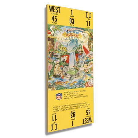 Los Angeles Raiders Super Bowl XVIII Commemorative Mini-Mega Ticket