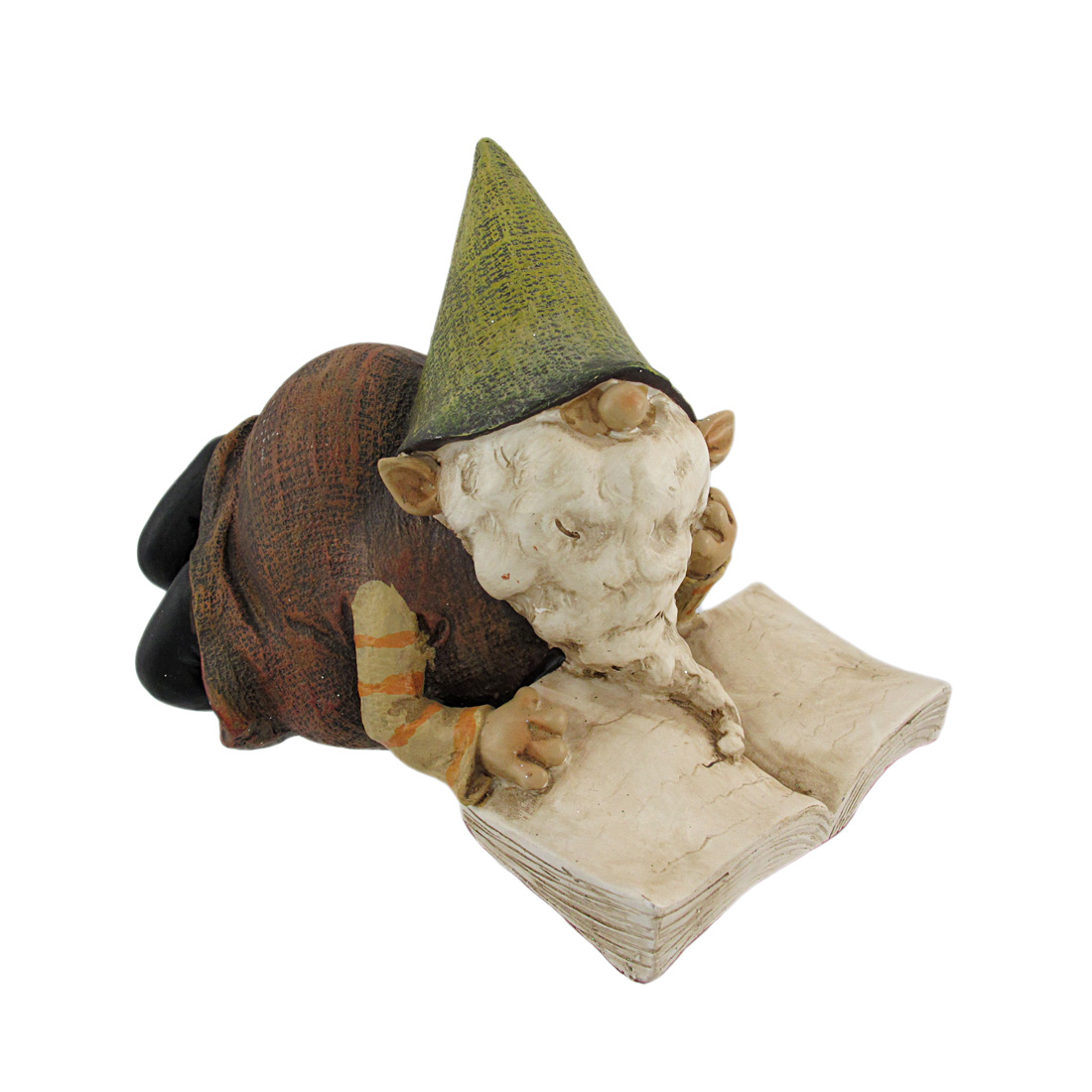 Adorable Reading Garden Gnome Hand Painted Statue by Young's Inc.
