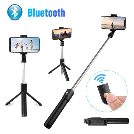 TSV Selfie Stick, Bluetooth V4.0 Selfie Stick Tripod with Rechargeable Wireless Remote Shutter Compatible with iPhone X/XS Max/XR/8 Plus/7/6S Plus, Samsung Galaxy S10/S10