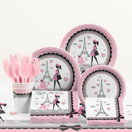 Party in Paris Birthday Party Supplies Kit (Birthday Paris Theme)