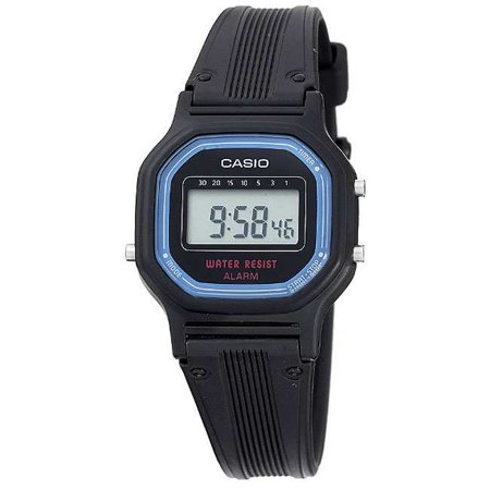Women's Daily Alarm Digital Watch, Black