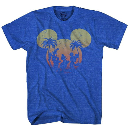 Disney Mickey Mouse Sunset Silhouette T-shirt Heather Royal](Couples Disney Shirts)