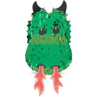 Green Dragon Pinata for Baby Shower, Kids Birthday Party Supplies and Decorations, Small 17 x 10.5 inches