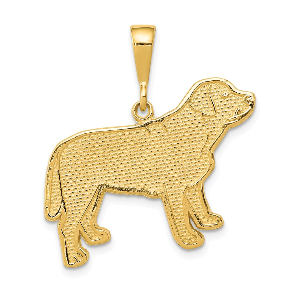 14k Yellow Gold Labrador Dog Pendant