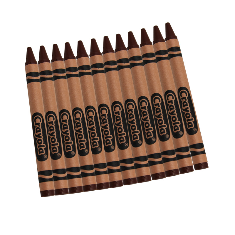 Crayola Bulk Crayons, Brown, 12 Count