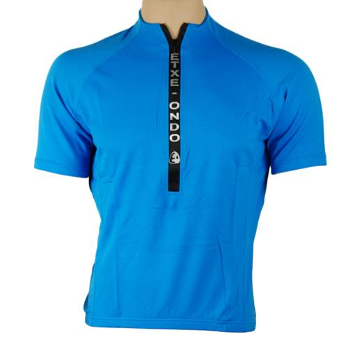 Etxeondo Meersburg Short Sleeve Relaxed Fit Men's Cycling Jersey Blue Small