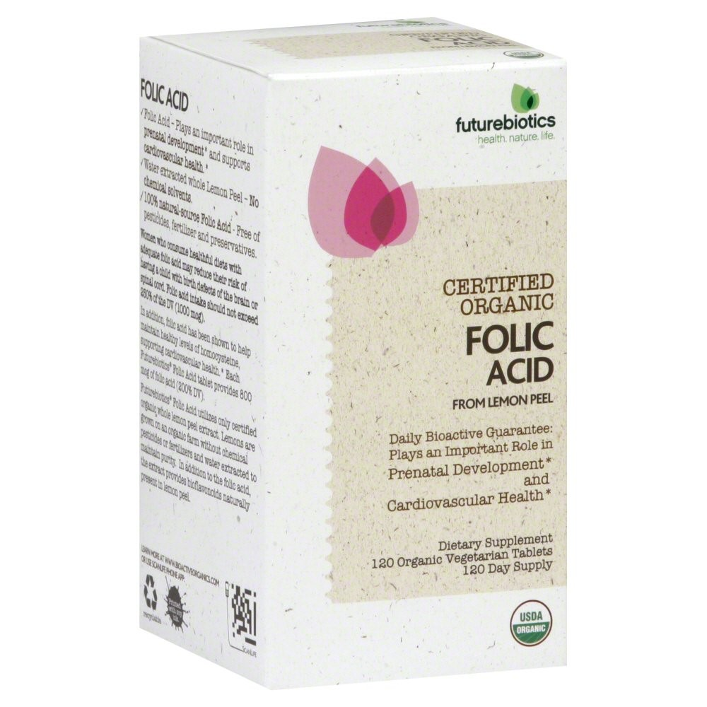 Futurebiotics Folic Acid Vegetarian Tablets, 120 Ct