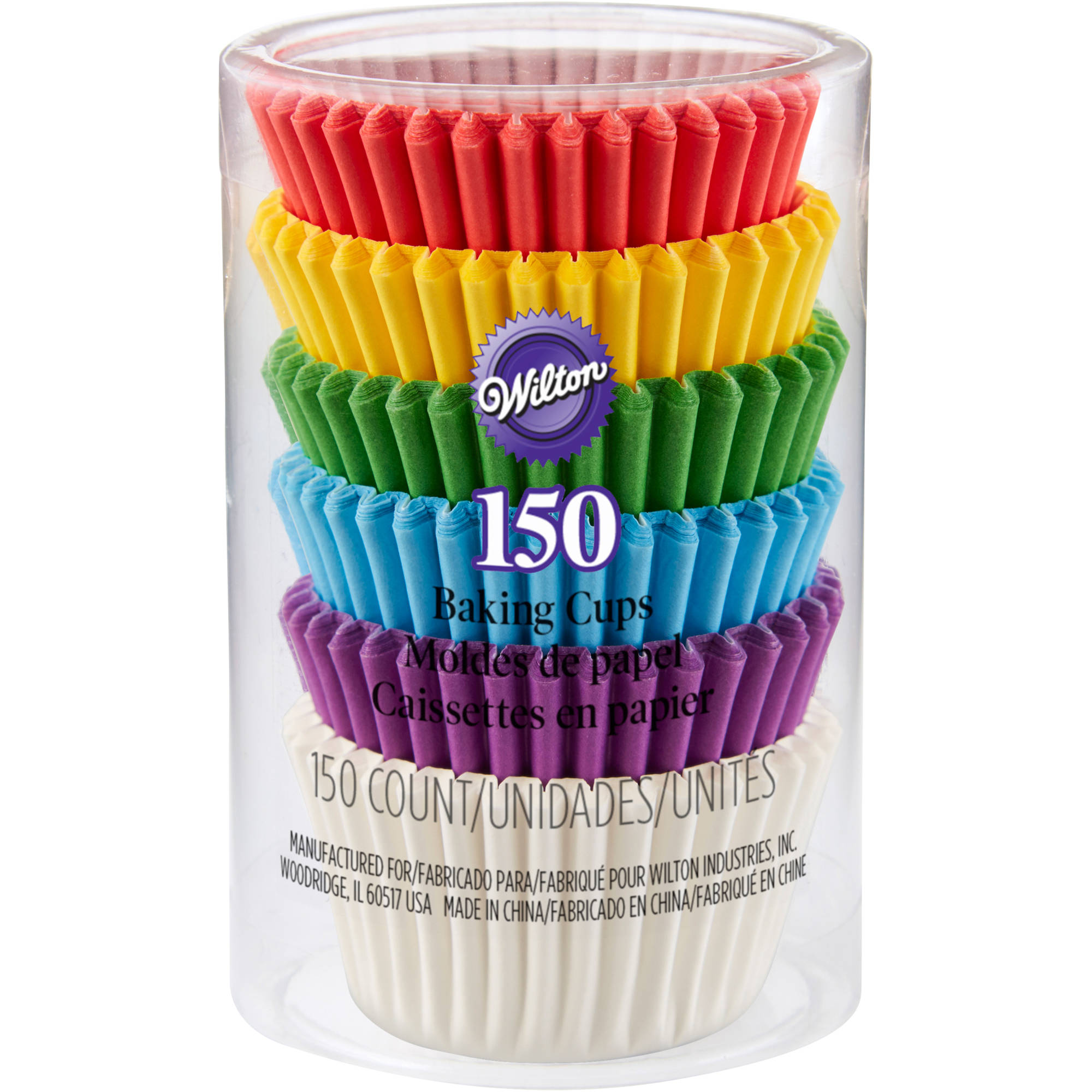 Wilton Rainbow Mini Cupcake Liners 150ct, 415-5171
