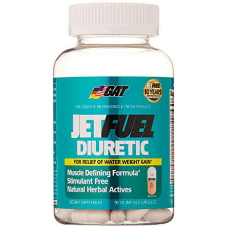 GAT Jetfuel Diurétique, Stimulant musculaire libre Définition du poids Formule de perte, 90 capsules