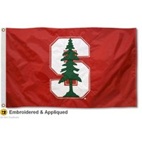 stanford cardinal embroidered and stitched nylon flag