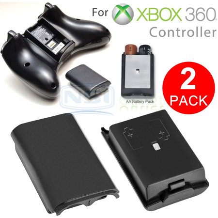 TSV 2PCS AA Battery Back Cover Case Shell Pack For Xbox 360 Wireless Controller (Xbox 360 Money Controller Shell)