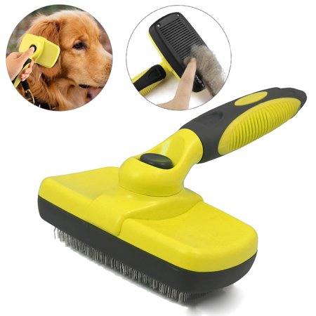 Pet Grooming Brush Self Cleaning Slicker Brushes for Dogs and Cats Long & Thick Hair Best Pet Shedding Tool for Grooming Loose Undercoat,Tangled Knots & Matted (Best Dogs For Shedding)