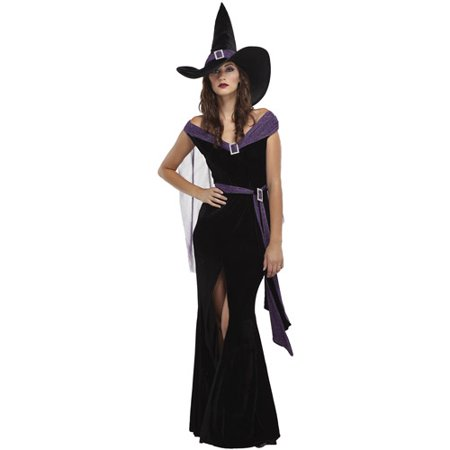Elegant Witch Adult Halloween Costume](Adult Witches Costume)