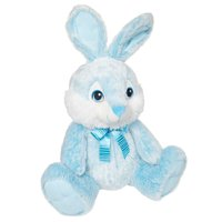 Way to Celebrate Easter Chubby Cheeks Bunny Plush Toy-Gray