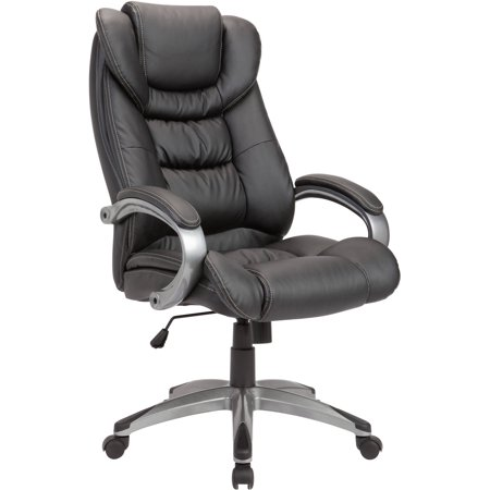 AC Pacific Adjustable Swivel Office Chair Powder Coated, Black ()