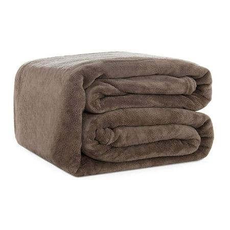 Subrtex Coral Fleece Bed Lightweight Summer Blanket Air Conditioning Room(Coffee,