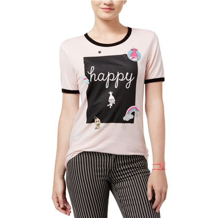 14cc0e28 Dreamworks - Dreamworks Womens Trolls Happy Graphic T-Shirt pinkvintageblk  XS - Juniors - Walmart.com