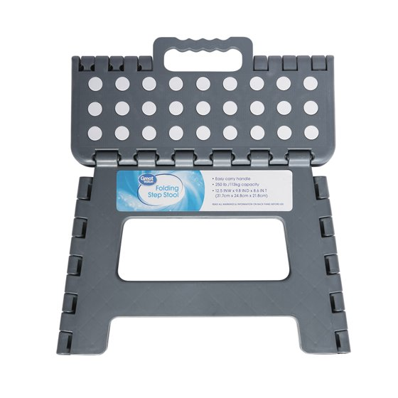Great Value Folding No Slip Step Stool Walmart