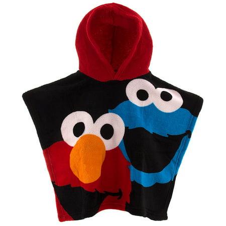 Sesame Street Hooded Poncho for Toddler Boys Onesize