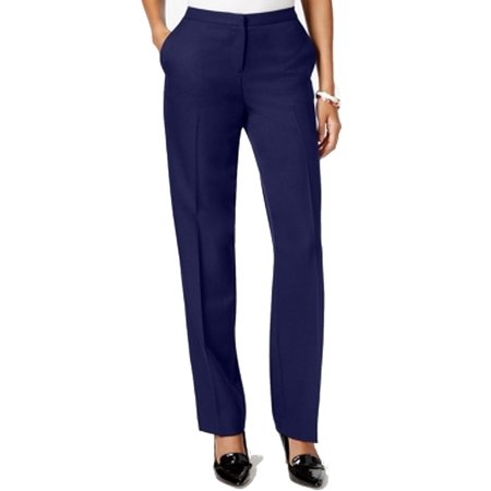 Tommy Hilfiger Navy Womens Flat-Front Dress Pants