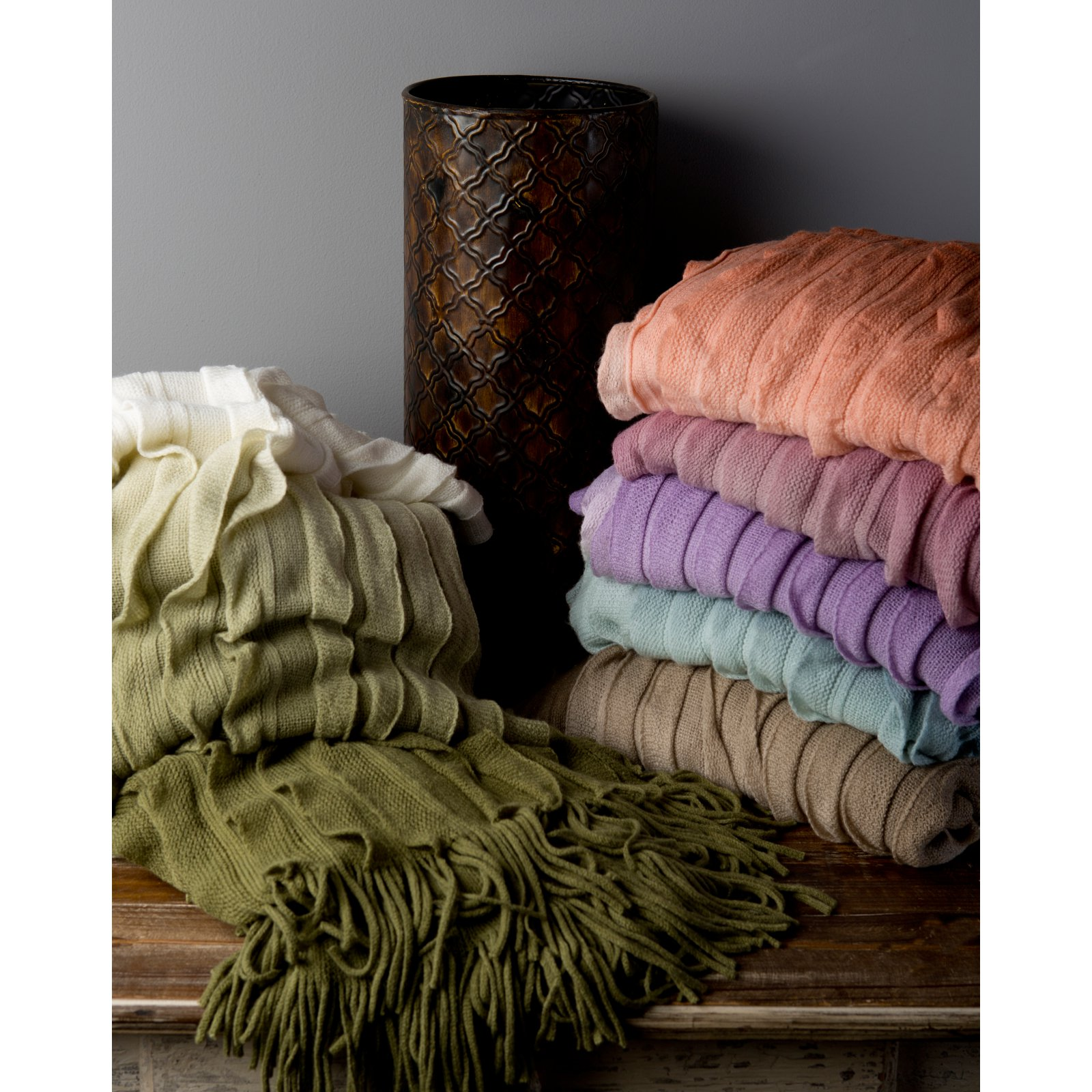 Surya Toya Ombre Throw - 50L x 60W in.