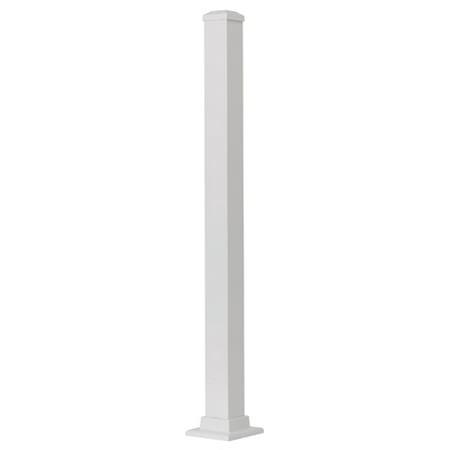 Aluminum Post, White, 37-In. ()
