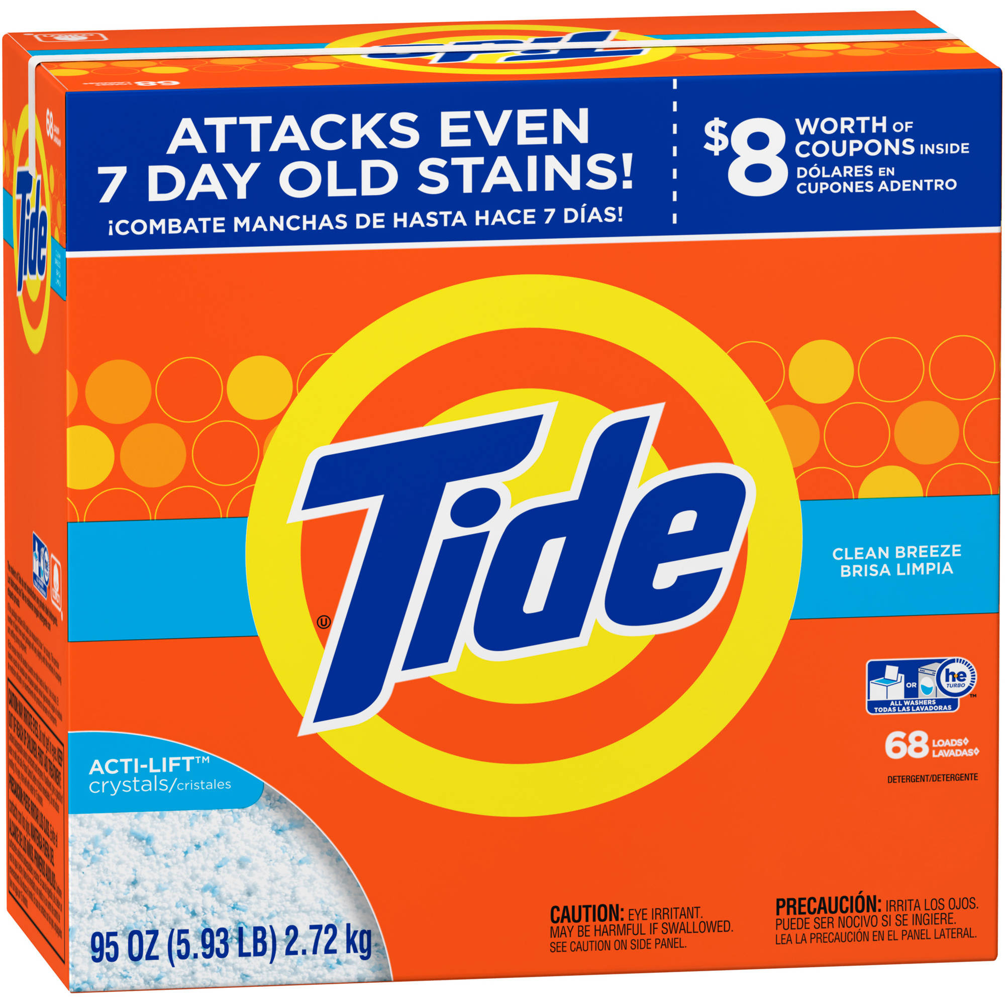 Tide Clean Breeze Powder Laundry Detergent, 68 loads, 95 oz