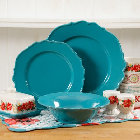 - The Pioneer Woman 20-Piece Denim Dinnerware Set, Walmart Exclusive