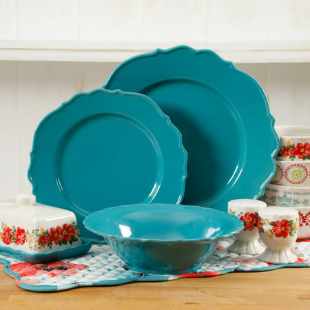 The Pioneer Woman 20-Piece Denim Dinnerware Set, Walmart - Halloween Dishware