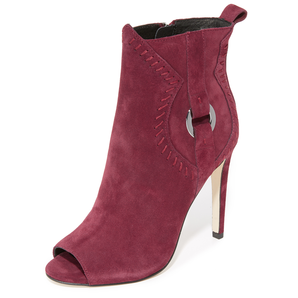 Rebecca Minkoff Suede Women's Ridley Suede Minkoff Peep Toe Booties d1eabf