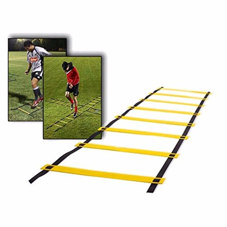 5M/16ft Speed Agility Ladder 9 Rung with Free Carrying Bag for Speed Training and Sports (Free Trainer)