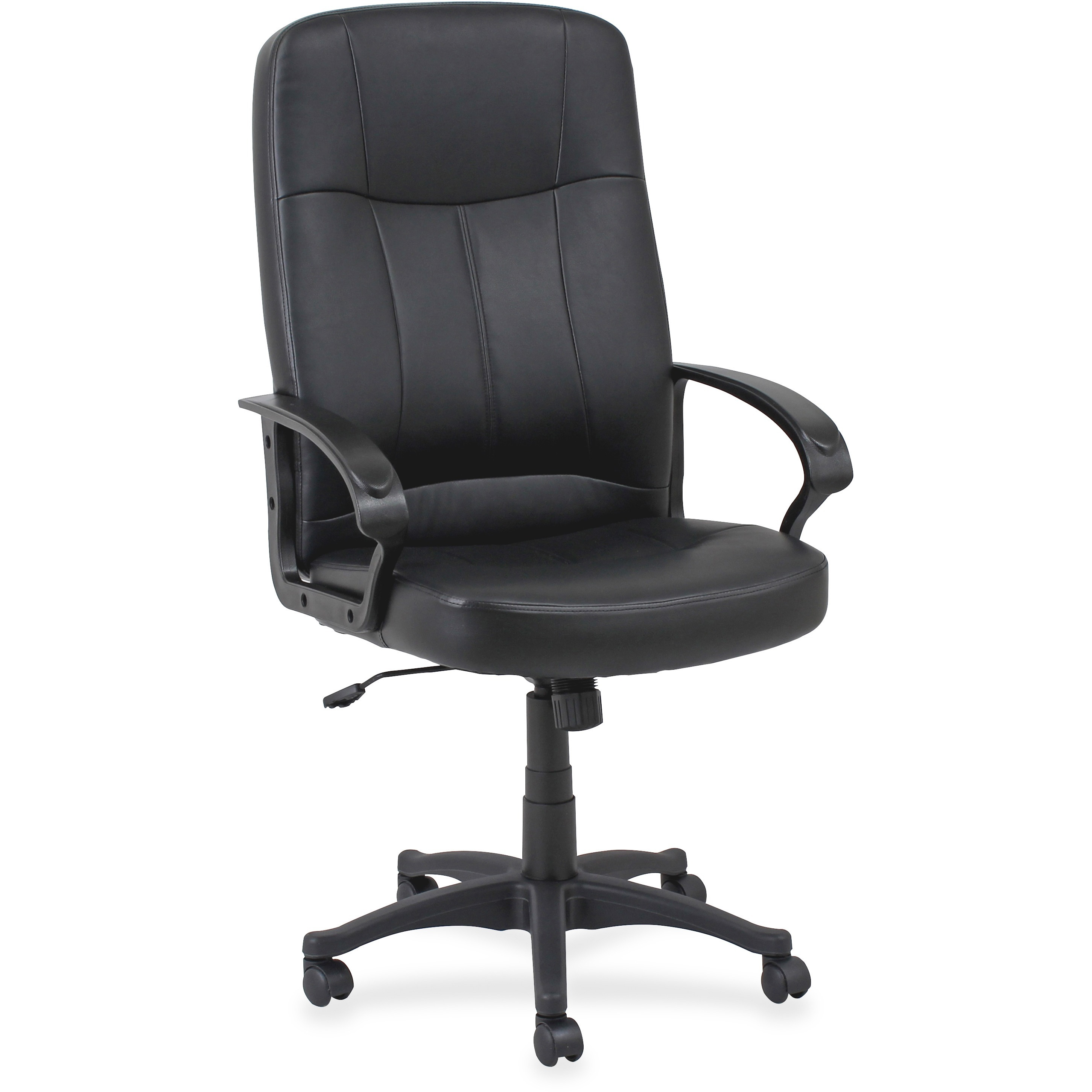 Lorell, LLR60120, Chadwick Executive Leather High-Back Chair, 1 Each, Black