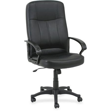 Lorell, LLR60120, Chadwick Executive Leather High-Back Chair, 1 / Each, Black