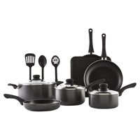 IMUSA USA 12 Piece Hammered Charcoal Cookware Set with Bakelite Handles