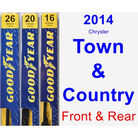 2014 Chrysler Town & Country Wiper Blade Set/Kit (Front & Rear) (3 Blades) - (Chrysler Wiper Blades)