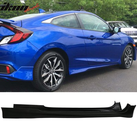 10 Coupe - Fits 16-18 Honda Civic Coupe Only HF-P Style Side Skirts PolyUrethane Unpainted