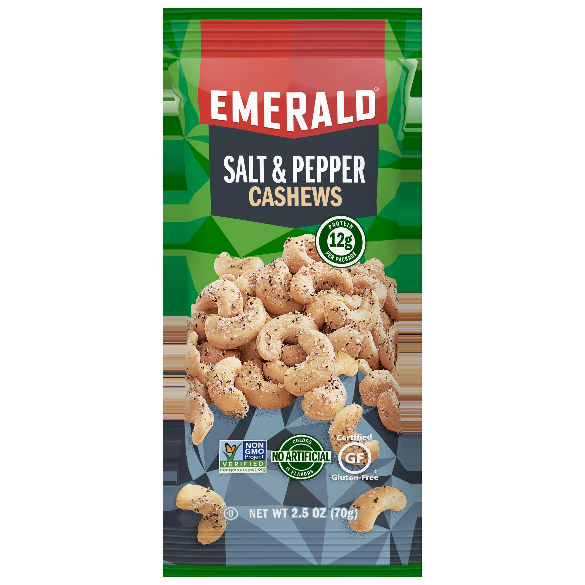 Emerald Nuts, Salt & Pepper Cashews, 2.5 Oz