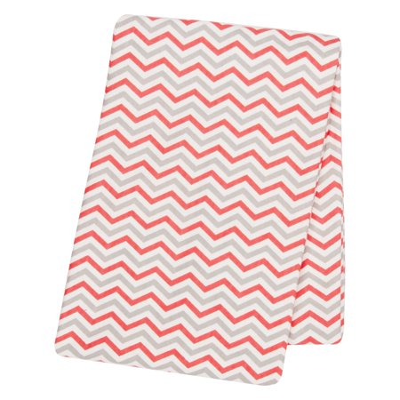 Walmart Swaddle Blankets Adorable Coral And Gray Chevron Flannel Swaddle Blanket Walmart